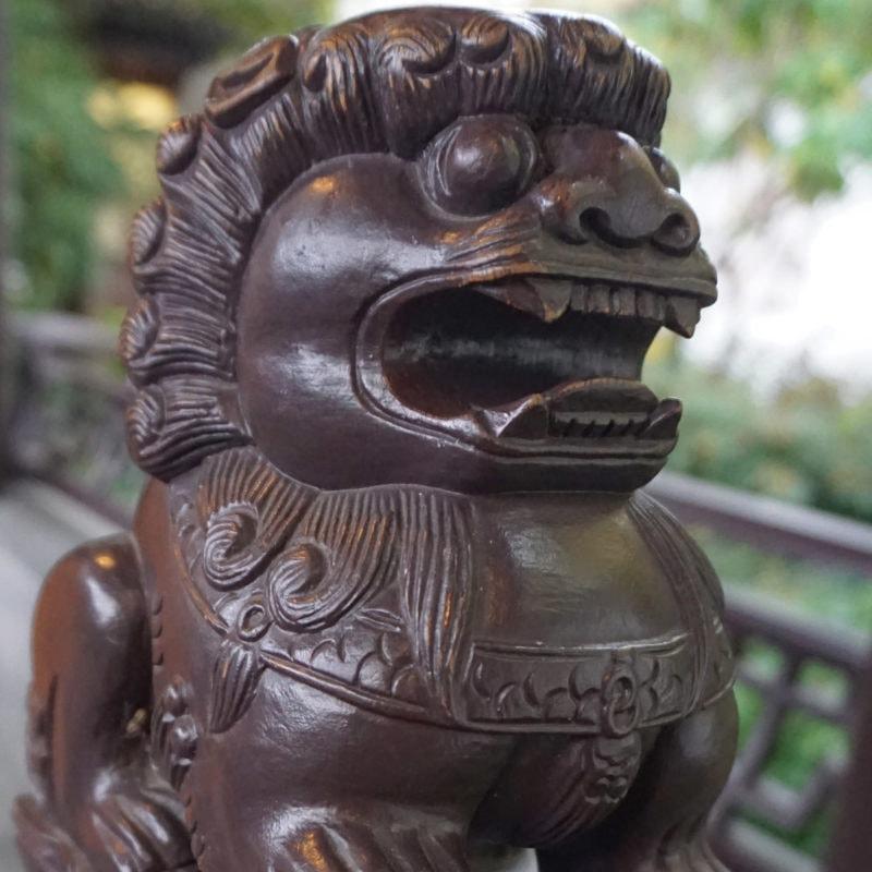 Chinese lion at Lan Su Chinese Garden, OR
